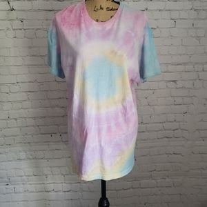 Oversized Pastel Tie Dye T-shirt size Large